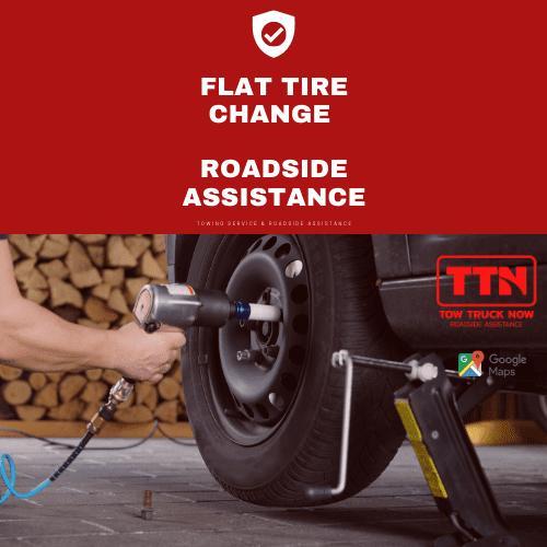 Flat Tire Change Service | TTN Roadside Assistance Canada